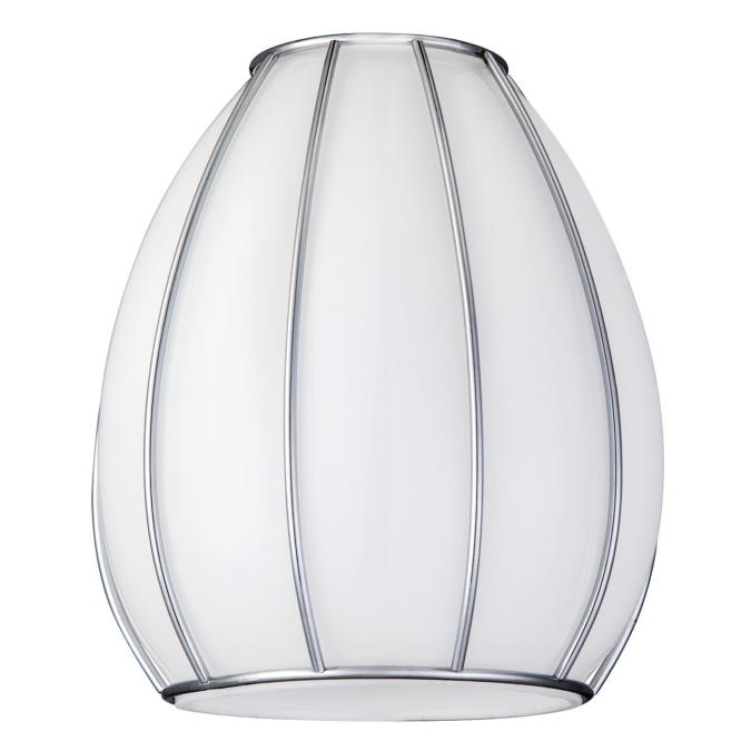 Westinghouse handblown white with chrome neckless glass shade 2 14 inch handblown white with chrome neckless glass shade aloadofball Gallery