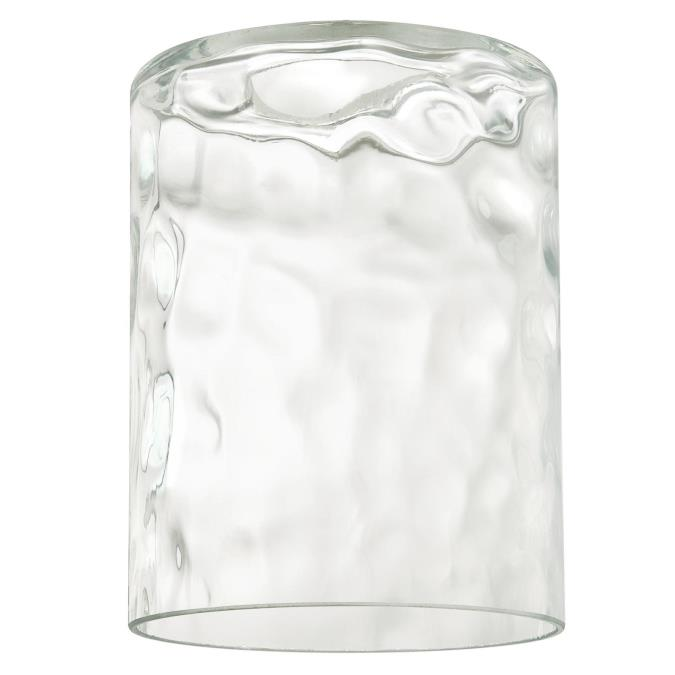 Westinghouse Clear Hammered Cylinder Glass Shade