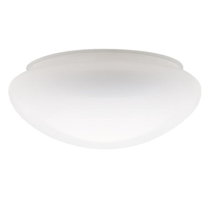 Handblown White Mushroom Shade